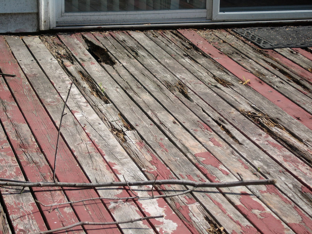 wooden deck removal and demolition