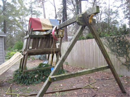 swing set removal
