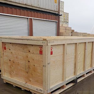 wooden crate removal and dismantling